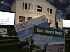Green deal brochures at Ideal Home Show 2013