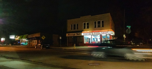 Ventry's Pizza Shop and nighttime Buffalo Ave scene - #72/365 by PJMixer