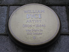 Photo of William Dyce yellow plaque