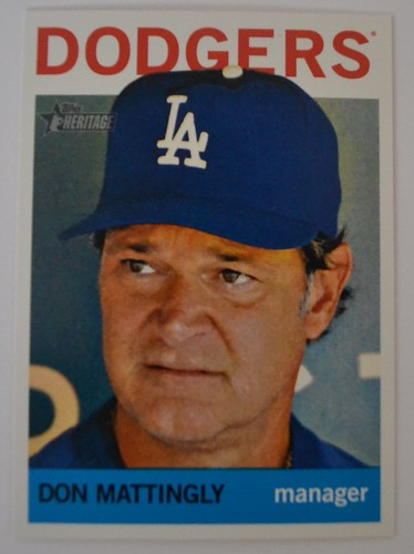 Don Mattingly Topps Heritage 2013