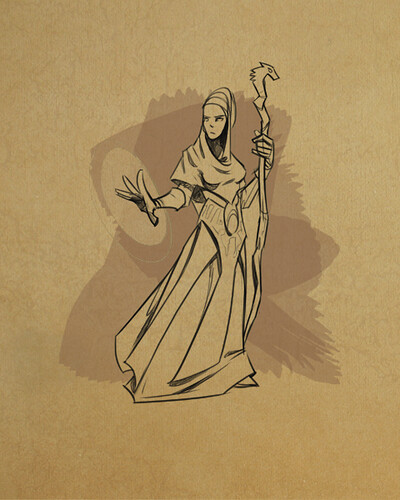 Godsrule: War of Mortals - Chantress concept art