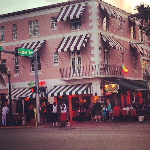 My cute restaurant for the night #miami #southbeach