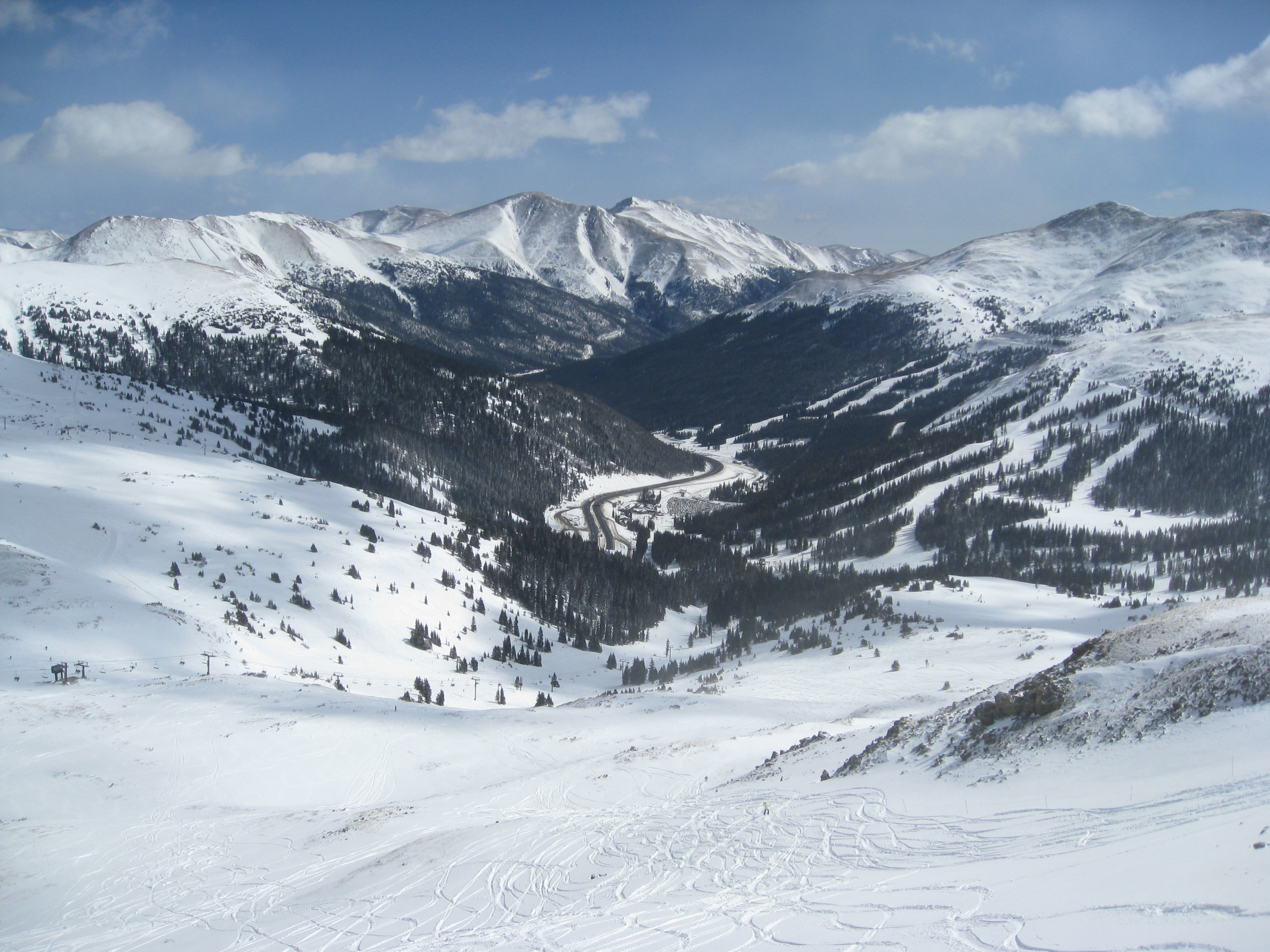 top of the ridge looking down on loveland