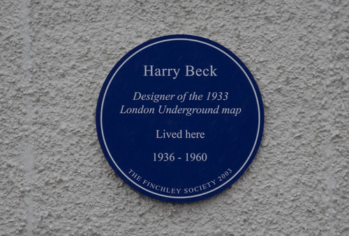 Harry Beck Plaque in Finchley