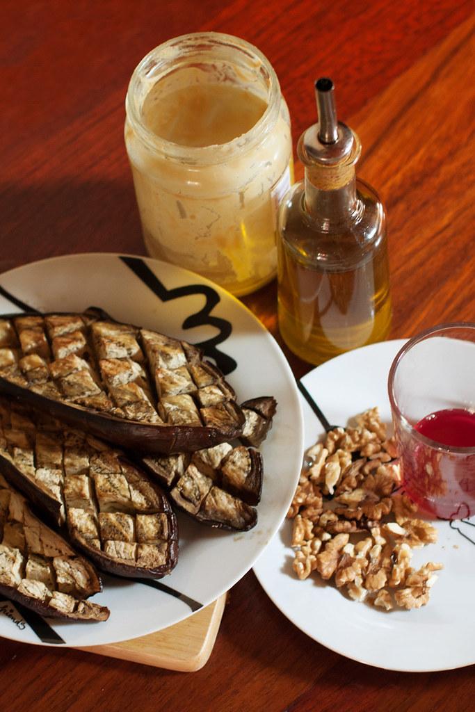 Ingredientes para el paté de berenjenas