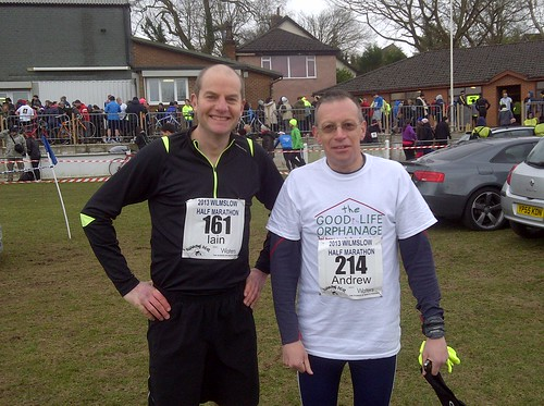 Andrew completes Wimslow Half Marathon