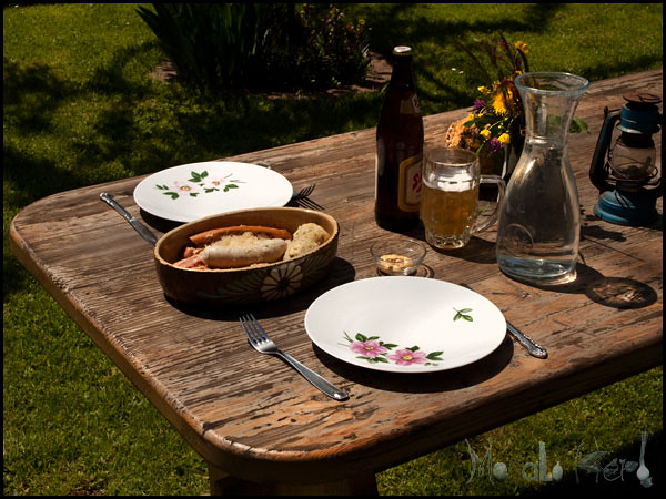 Sauerkraut, Semmelknödel and Sausage