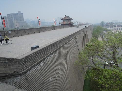 安定門から見た城壁