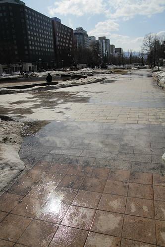 Pavement of Odori Park, Sapporo