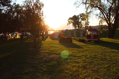 sunset for #hAbitAt at Canberra's Centennial Birthday celebrations