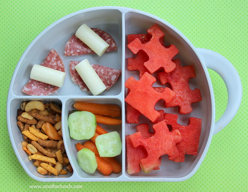 elephant trunck snack box - watermelon puzzle bites toddler lunch