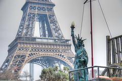Our Lady Liberty and Eiffel Tower