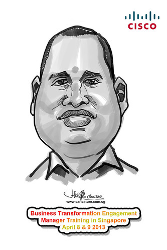 digital caricature for Cisco - 11