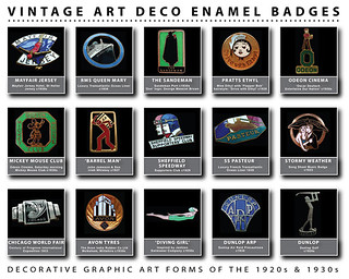 ART DECO Enamel Badges: 1920s & 1930s
