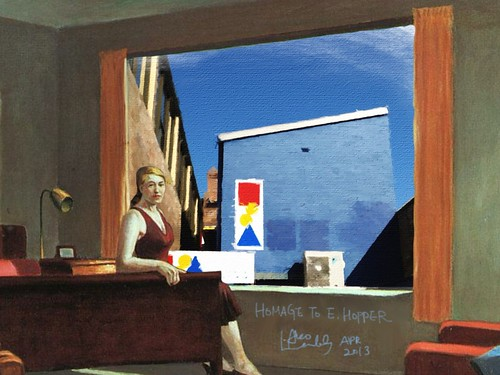 iPad Art by Ako Lamble, homage to E hopper Western Motel
