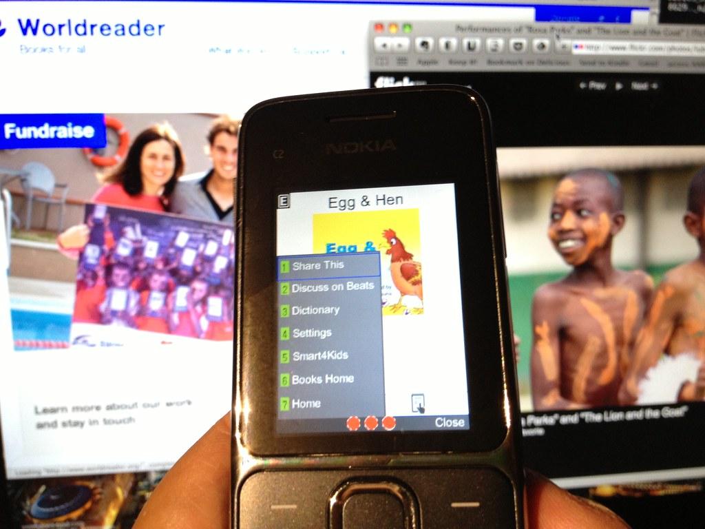 Worldreader Mobile via biNu on a Nokia C2-01 using T-mobil…   Flickr