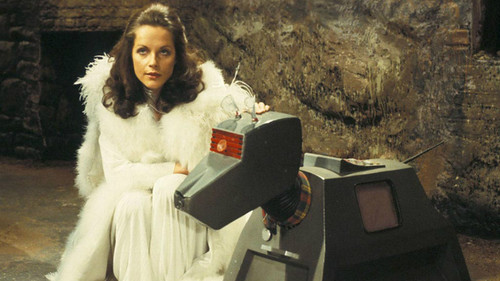 Doctor Who's Romana and a robot dog
