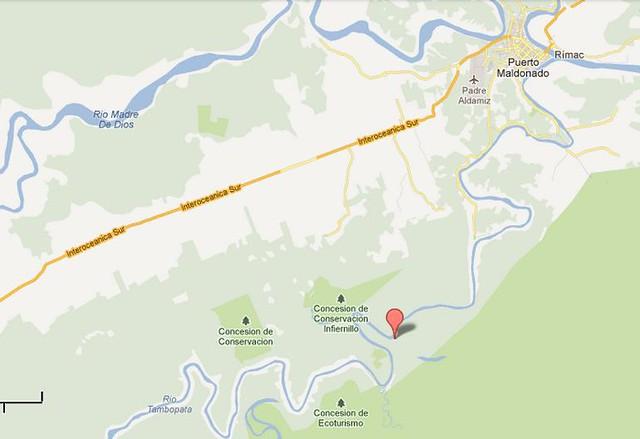標記處為亞馬遜生態旅館地點