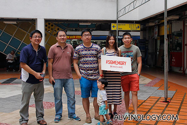 Group picture with the other bloggers and Jerome
