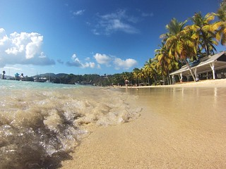 Image de Honeymoon Beach. beach sand wave palmtree gopro