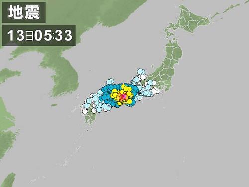淡路島地震でM=6