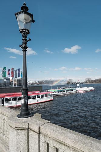 Hamburg Alster Fountain Rainbow - Fujinon XF 14mm - Fuji X-Pro 1