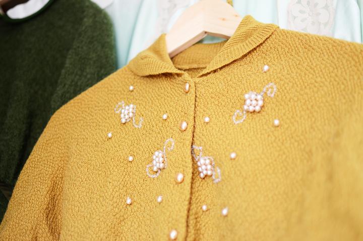vintage mustard cardigan g