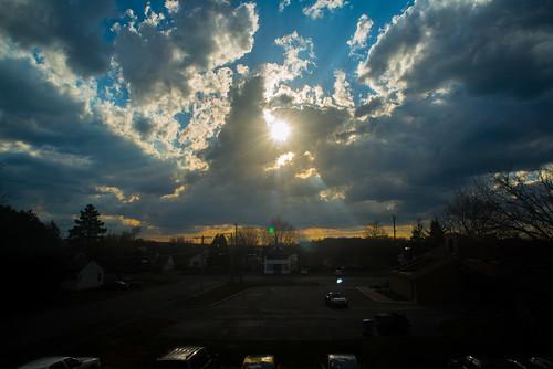 sun clouds syracuse sunbeams partlycloudy