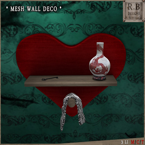 GIFT ! *RnB* Mesh Wall Deco - Red Dragon (np)