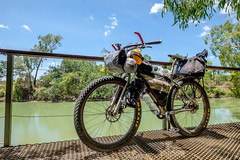 Cycling the Top End - Muru Cycles Mungo 29+ at Cahills Crossing, Kakadu NP