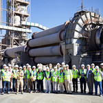 Delegates on the plant tour at Morata de Tajuna (Portland Valderrivas)