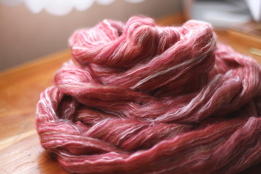 silk-merino roving
