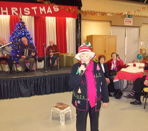 Jane Vereker SSL entertains senior citizens at St John's Rest & Care Day Centre, Knock