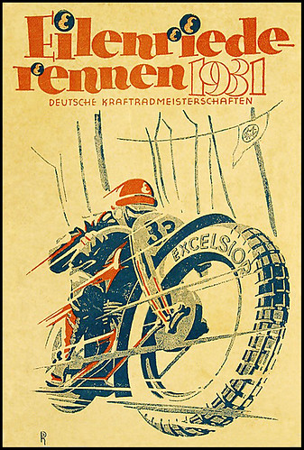 1931 German Motorcycle Racing Graphic by bullittmcqueen