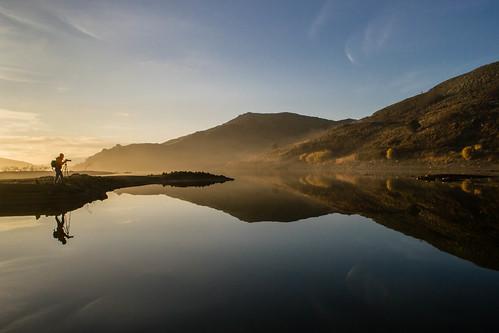lake sunrise reflections landscape greece lemnos fragma kontias agdemetrios