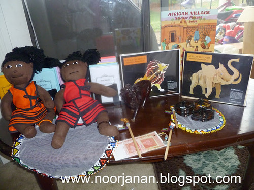 Africa Materials (Photo from Noor Janaan Homeschool)