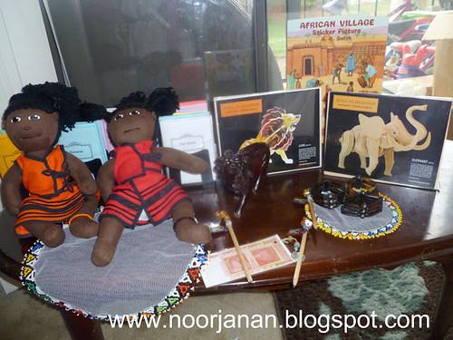 Africa Materials (Photo from Noor Janaan Homeschool)