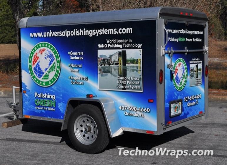 Vinyl trailer wrap by TechnoSigns