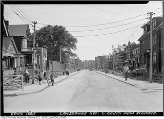Lansdowne Avenue south from Seaforth Avenue