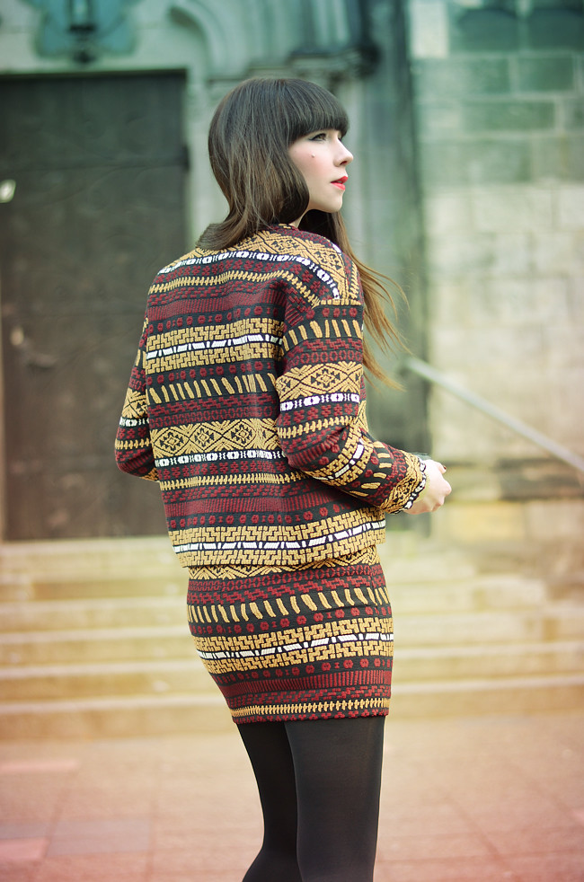 Zara aztec pattern outfit CATS & DOGS Blog 9