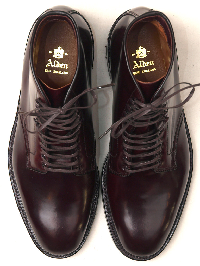 Alden / 45358HC #8 Shell Cordovan Plain Toe Boot