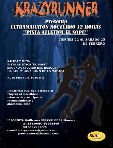 Ultramaraton 12 horas El Sope Bosque de Chapultepec