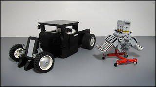 Custom Lego Hot Rod Pickup Truck
