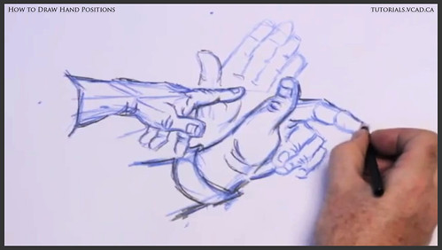 learn how to draw hand positions 012