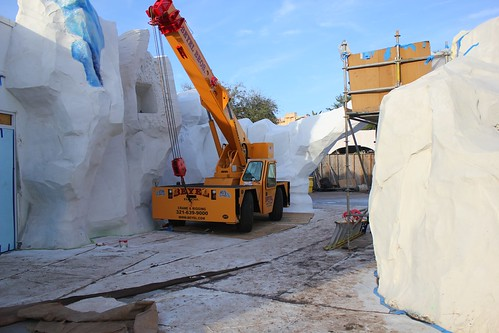Antarctica construction tour at SeaWorld Orlando