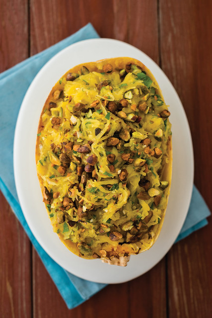 Pistachio Lemon Spaghetti Squash from Virgin Vegan: Everyday Recipes