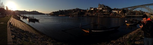 Another iPhone panorama. Porto, ribeira, Douro.