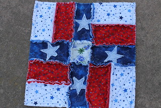 Wish Upon a Texas Star Rag Quilt