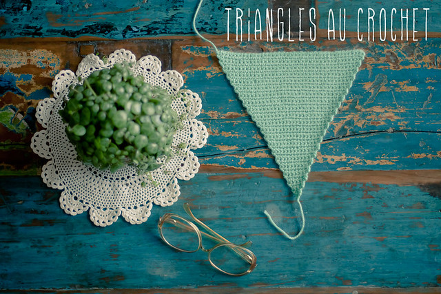 patron triangles au crochet