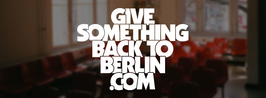 GIVE SOMETHING BACK TO BERLIN logo